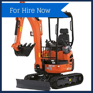 dry hire this kubota U17-3 miniature excavator from North East Diggers in Melbourne