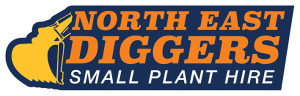 North East Diggers logo for mini excavator dry hire